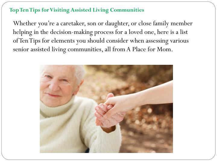 Top Ten Tips for Visiting Assisted Living
