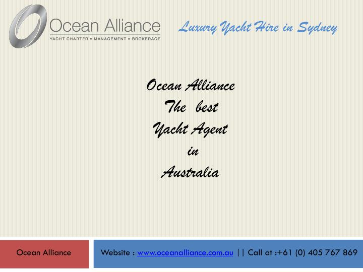 Luxury Yacht Hire in Sydney