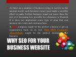 why seo for your business website