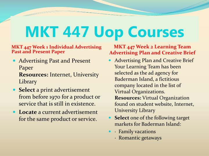 MKT 447