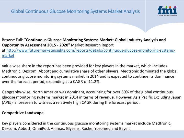 Global Continuous Glucose Monitoring Systems Market Analysis