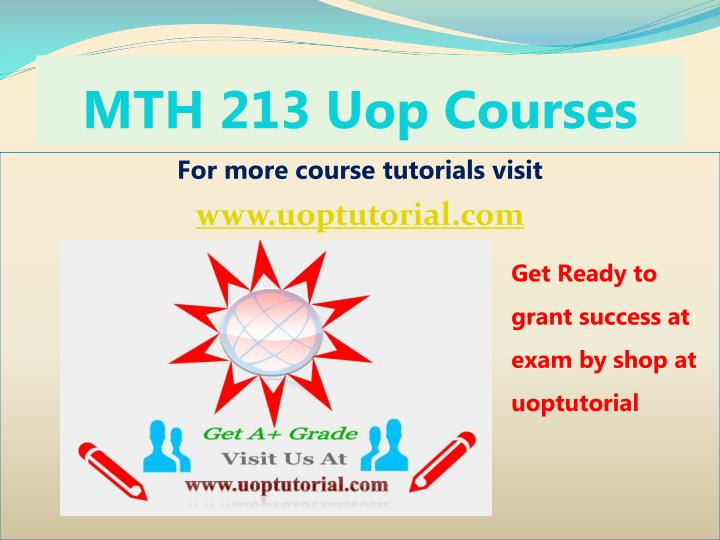 Mth 213 uop courses