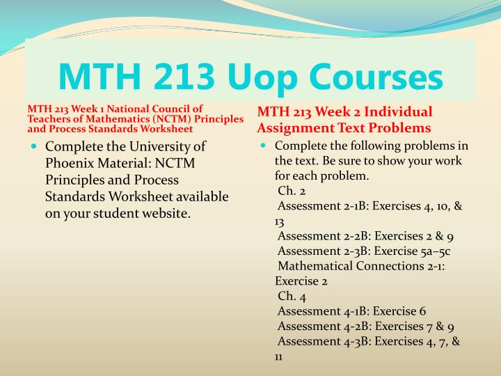 Mth 213 uop courses2