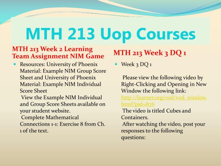 MTH 213