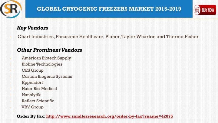Chart Industries, Panasonic Healthcare, Planer, Taylor Wharton and