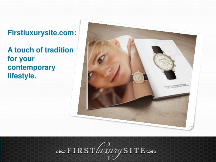 Firstluxurysite.com: