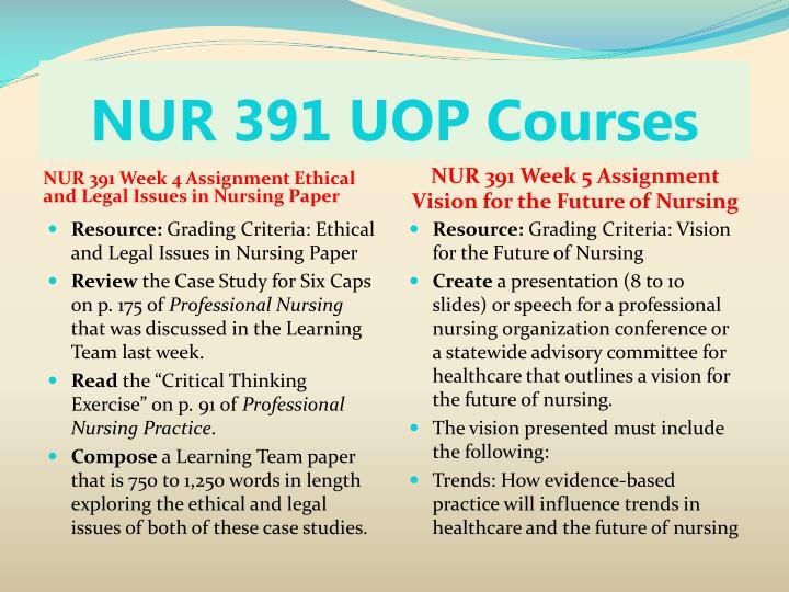 NUR 391 UOP Courses