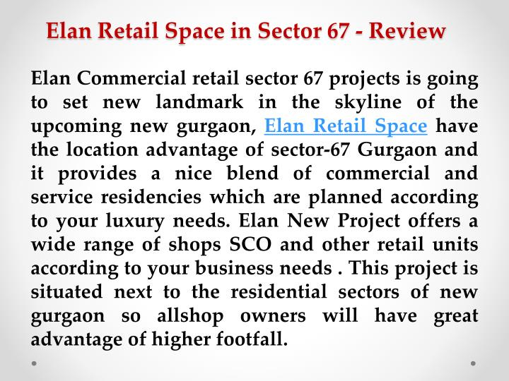 Elan retail space in sector 67 review