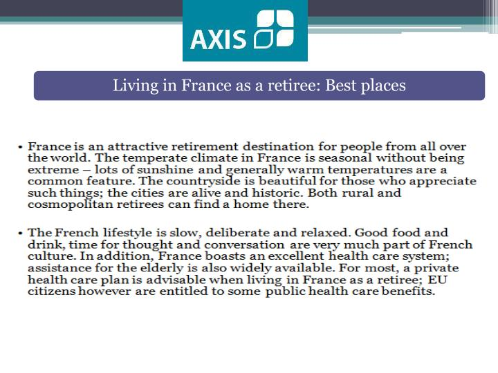 Living in France as a retiree: Best places