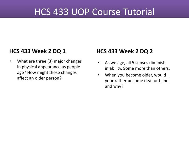 HCS 433 Week 2 DQ 1