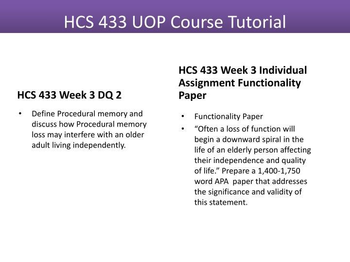 HCS 433 Week 3 DQ 2