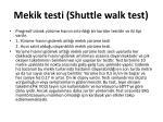 mekik testi shuttle walk test