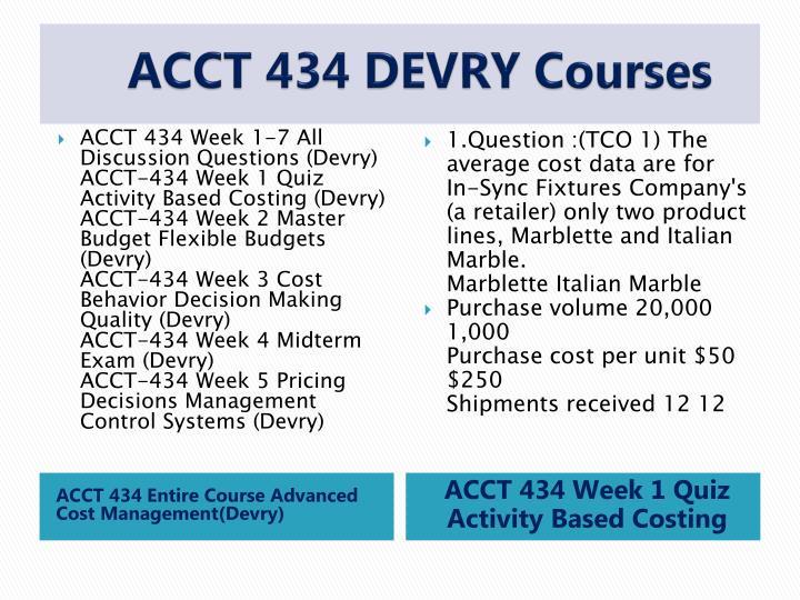 ACCT 434 DEVRY
