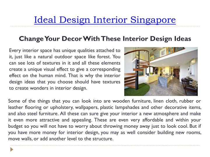 Ideal Design Interior Singapore