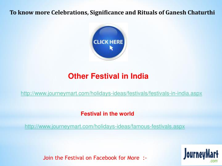 To know more Celebrations,