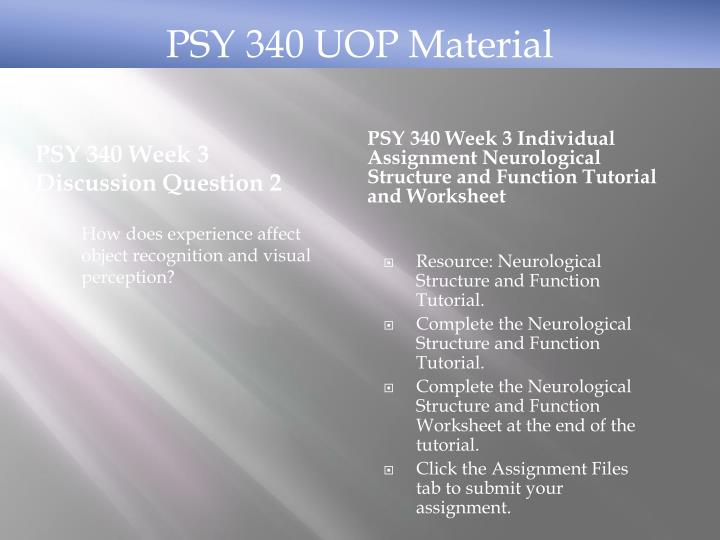 PSY 340 Week 3 Discussion Question 2