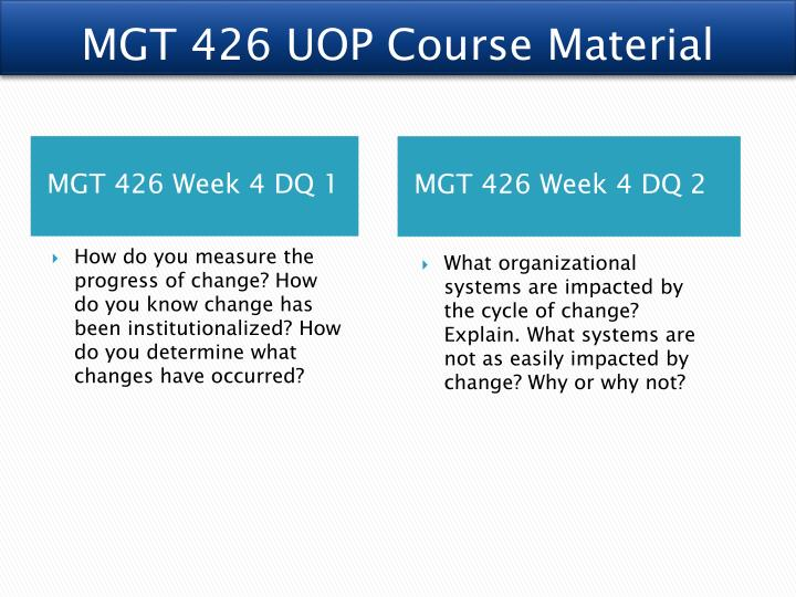 MGT 426 UOP Course Material