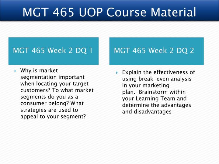 MGT 465 UOP Course