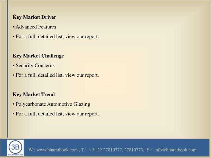 Key Market Driver