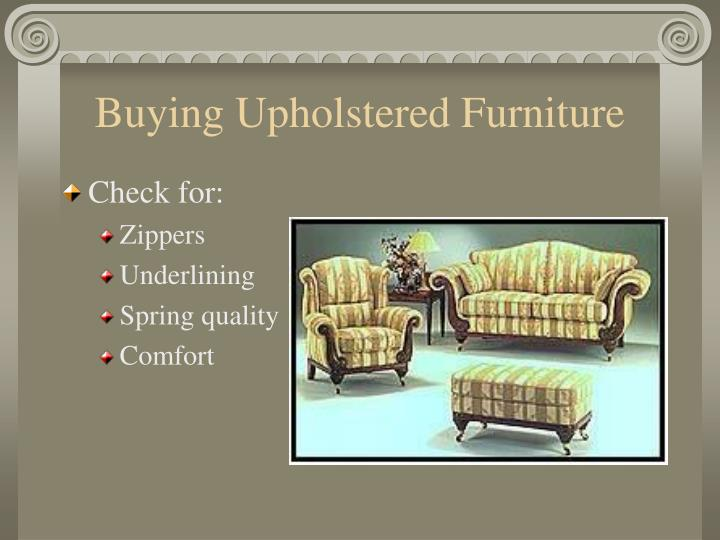 Buying Upholstered Furniture
