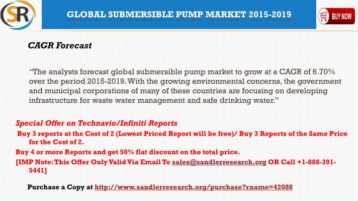 Global submersible pump market 2015 20191