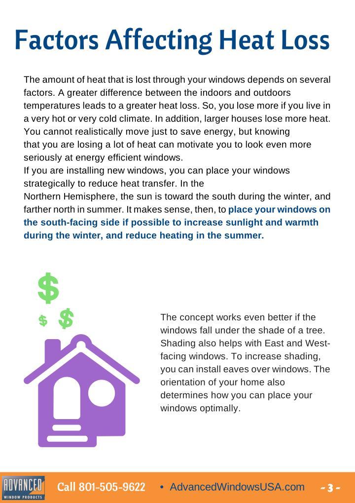 Factors Affecting Heat Loss