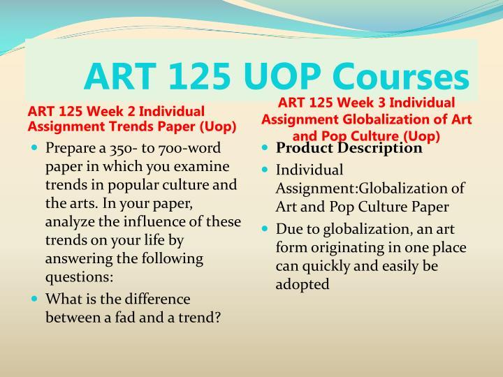 ART 125 UOP