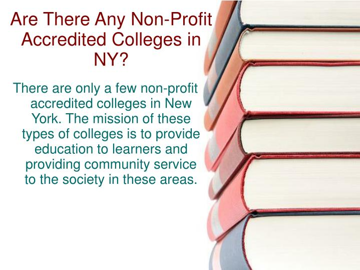 Are there any non profit accredited colleges in ny