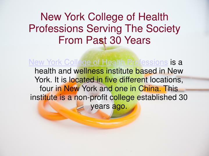 New York College of Health Professions Serving The Society From Past 30 Years