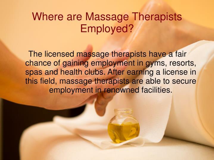 Where are Massage Therapists Employed?