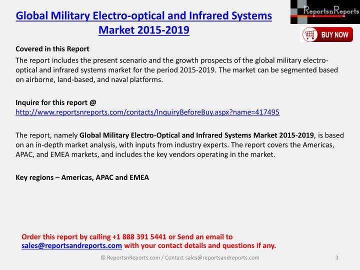 Global military electro optical and infrared systems market 2015 20192