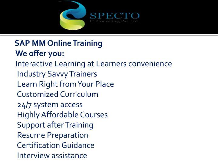 SAP MM Online Training
