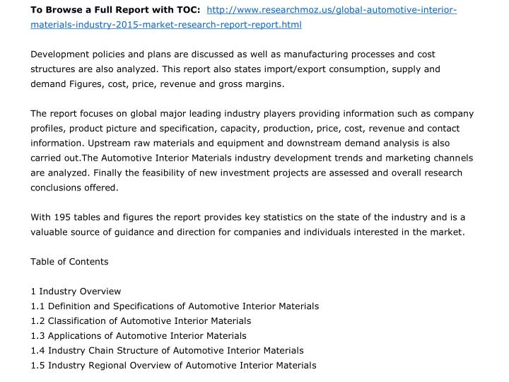 To Browse a Full Report with TOC: