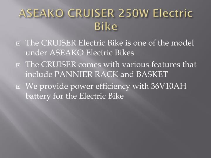 ASEAKO CRUISER 250W Electric Bike