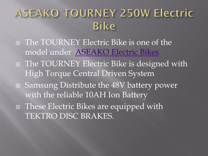 ASEAKO TOURNEY 250W Electric Bike