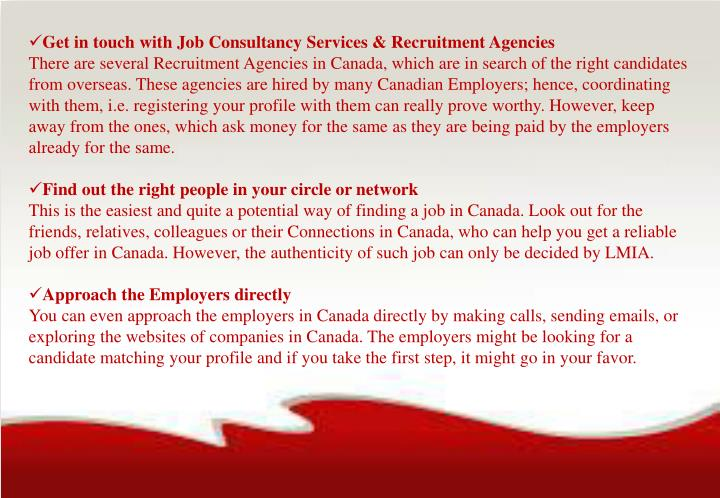 Get in touch with Job Consultancy Services & Recruitment Agencies