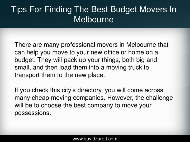 Tips for finding the best budget movers in melbourne2