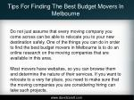 tips for finding the best budget movers in melbourne3