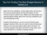 tips for finding the best budget movers in melbourne4