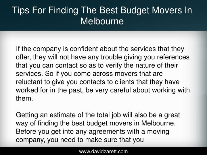 Tips For Finding The Best Budget Movers In Melbourne