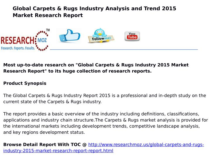 Global Carpets & Rugs Industry Analysis and Trend 2015