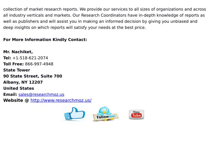 collection of market research reports. We provide our services to all sizes of organizations and across