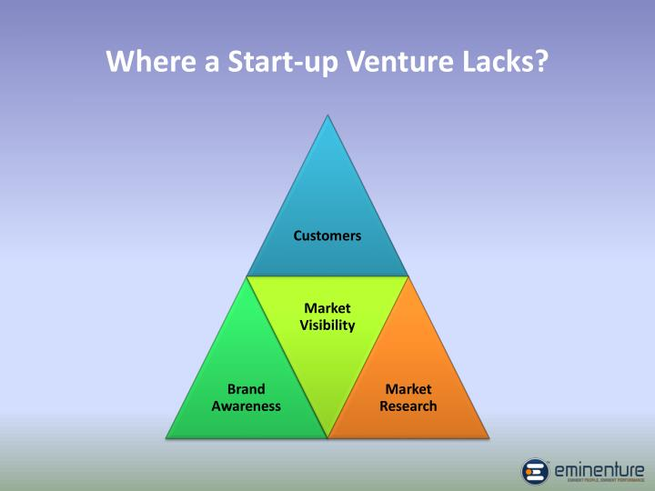 Where a start up venture lacks