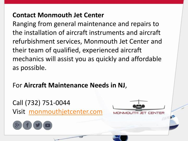 Contact Monmouth Jet Center