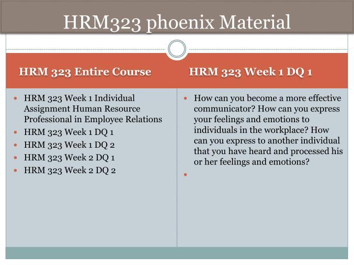 HRM323 phoenix Material