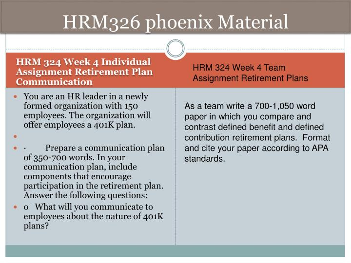 hrm 324 week one Hrm 324 week 1 week 1 quiz hrm 324 week 1 week 1 quiz 1 passage of this act requires compensation professionals to demonstrate that alleged discriminatory pay practices are a business necessity 1 civil rights act of 1991 2 equal pay act of 1938 3 fair labor standards act of 1938 4 davis-bacon act of 1931.