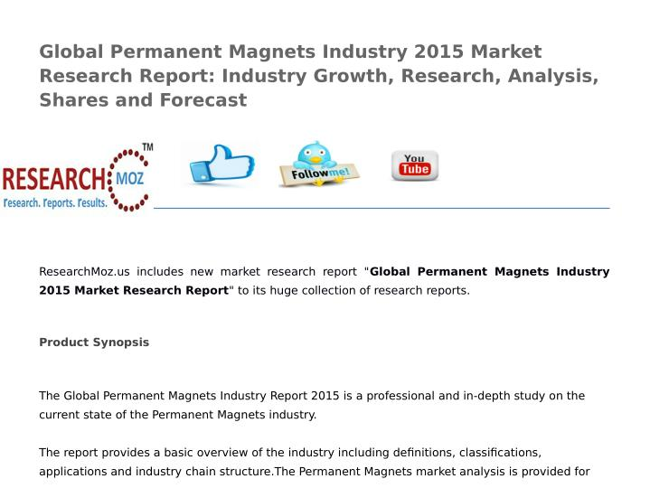 Global Permanent Magnets Industry 2015 Market