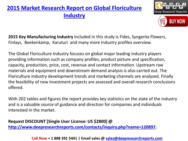 2015 Market Research Report on Global Floriculture Industry