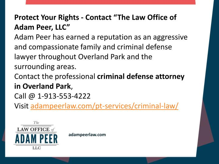 "Protect Your Rights - Contact ""The Law Office of Adam Peer, LLC"""