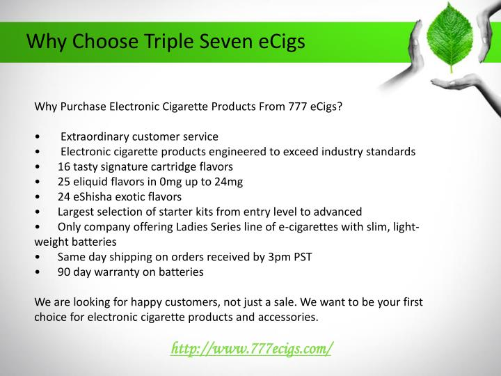 Why choose triple seven ecigs